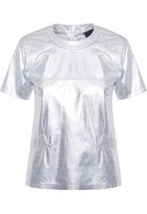 Camiseta Feminina Manga Curta Narv - Prata