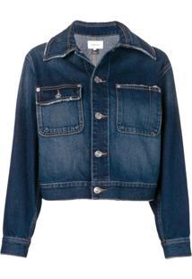 Current/Elliott Jaqueta Jeans Cropped - Azul