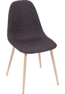 Cadeira Charla- Grafite & Madeira Clara- 85,5X45X40Cor Design
