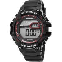 350c1fc502b Relógio Masculino Mormaii Wave Digital Mo3480A 8R - Unissex-Preto