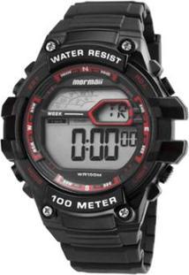 Relógio Masculino Mormaii Wave Digital Mo3480A/8R - Unissex-Preto