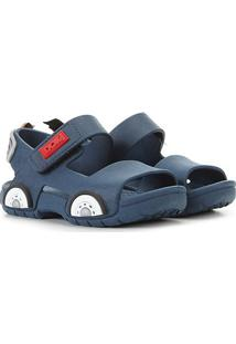 Sandália Infantil Dok Carro Injet Velcro Masculino - Masculino-Marinho