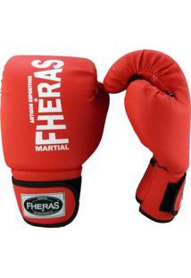 de6808746 Luva Boxe Muay Thai Fheras New Trade Vermelho 14 Oz