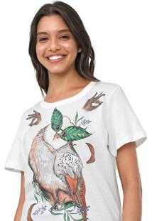 Camiseta Colcci Coruja Off-White