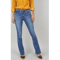 0d3a07dc0 CEA. Calça Jeans Feminina Boot Cut Cintura Média Azul