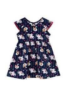 Vestido Infantil Menina Kyly Marinho