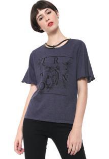 Camiseta Triton Estampada Azul