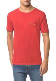 Camiseta Ckj Mc Logo Peito - Vermelho - Ggg