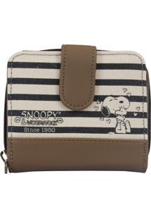 Carteira Snoopy Sp1721 Preta