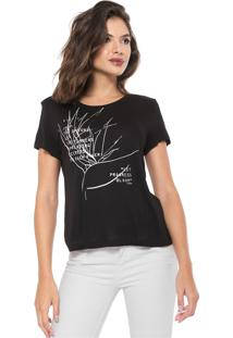 Camiseta Forum Estampada Preta