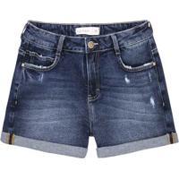 664c7db273 Dzarm Web Store. Shorts Jeans De Algodão Com Barra ...