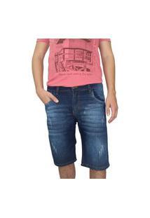 Bermuda Jeans Masculina Ecxo Azul Escuro