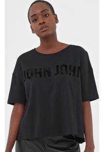Camiseta John John Back Stars Preta