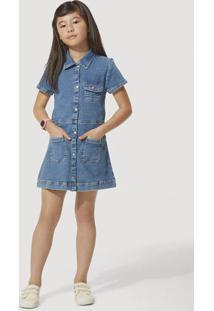 Vestido Jeans Infantil Com Elastano Play Jeans Hering Kids