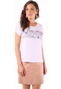 T Shirt Angel Print Word Branco