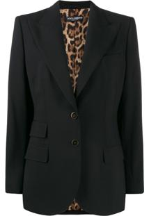 Dolce & Gabbana Jaqueta Com Abotoamento Simples - Preto