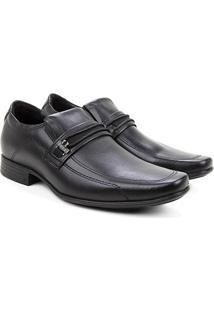 Sapato Social Couro Pegada Bico Fino Masculino - Masculino-Preto