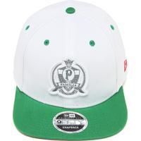 Boné New Era Snapback Palmeiras Branco Verde a67565f1460