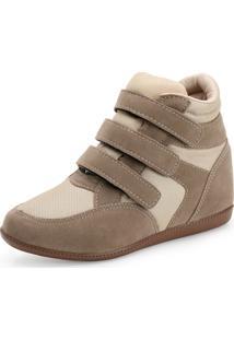 Tênis Sneaker Giovana Gv19-L2002 Nylon (Bege)