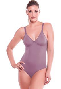 Body Modelador Sem Bojo E Costas Anatômicas Lisa Feminize
