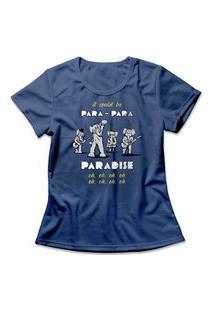Camiseta Feminina Coldplay Paradise Azul