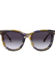 2f6a5585ba83b Óculos Emporio Armani Ea4125 57154Q Roxo Lente Violeta Cinza Degradê Tam 61