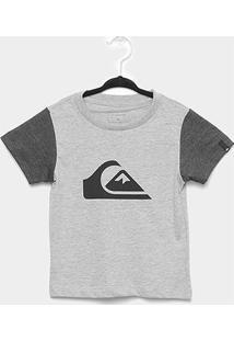 Camiseta Infantil Quiksilver M&W Bicolor Masculina - Masculino-Mescla