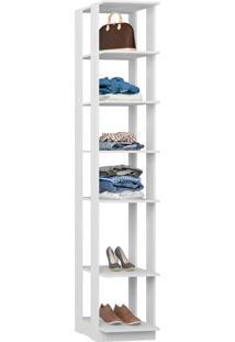 Closet Modulado C/ Prateleiras Clothes 410 – Be Mobiliários - Branco