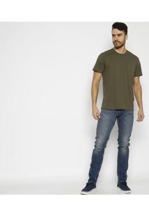Camiseta Com Bolso & Tag - Verde Militarlevis