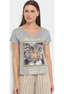 Camiseta Carmim Fada Feminina - Feminino-Cinza