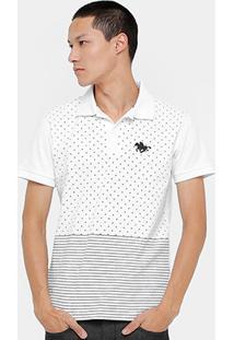 Camisa Polo Rg 518 Piquet Poá Listras Masculina - Masculino 80d7dcd5fc835