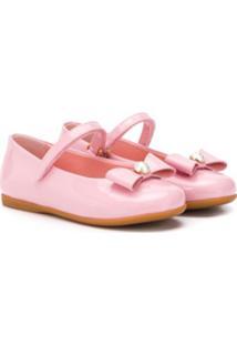 Dolce & Gabbana Kids Sapatilha Com Detalhe De Laço - Rosa