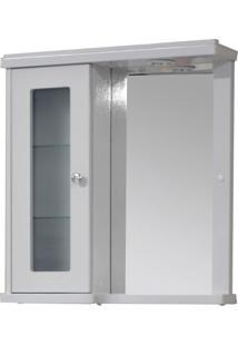 Armário Para Banheiro Havana 1 Pt Branco