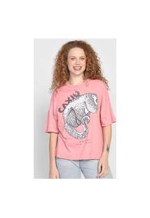 Camiseta Colcci Caxiú Rosa