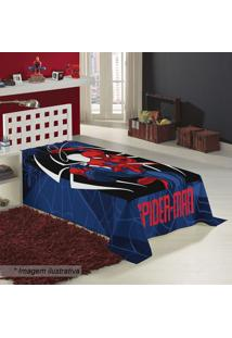 Manta Fleece Solteiro Spider Man®- Azul Escuro & Vermelhlepper
