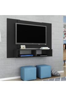 Painel Para Tv Até 42 Polegadas 2 Nichos Navi Móveis Bechara Preto Fosco