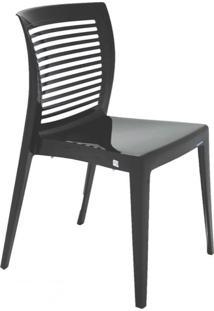 Cadeira Com Encosto Vazado Victória Summa Preta