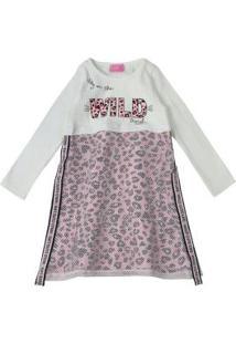 Vestido Animal Print Rosa