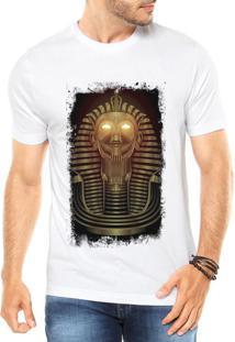 e94b3446e3ec4 Camiseta Criativa Urbana Faraó Neon Branca