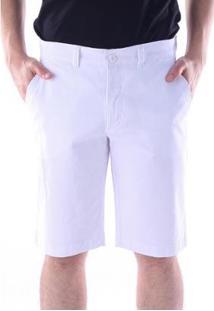 Bermuda Sarja Chino Regular Com Elastano Traymon Masculina - Masculino