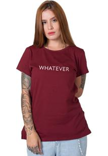 Camiseta Stoned Whatever Bordô