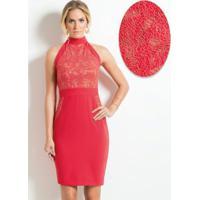 9ee1b6ff83 Posthaus. Vestido Mink Coral Com Detalhe ...