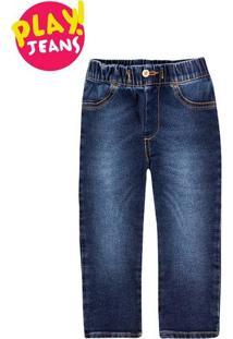 Calça Jeans Bebê Menino Com Elástico Na Cintura Hering Kids