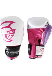 08b4eb04a Luvas De Boxe Pretorian Elite - 14 Oz - Adulto - Branco Rosa