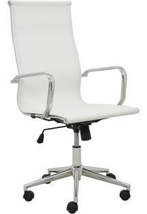 Cadeira De Escritório Alta Tela Sevilha-Rivatti - Branco