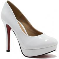 e3dcd34033 Sapato Zariff Shoes Meia Pata Verniz Noivas - Feminino-Branco