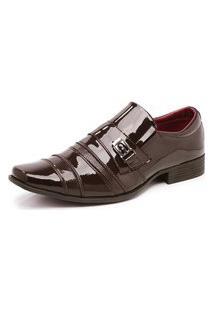Sapato Social Masculino Verniz Schiareli Marrom