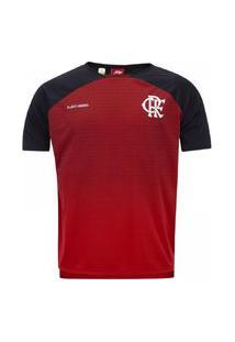 Camisa Braziline Flamengo Shadow Infantil Vermelho