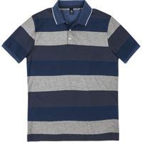 1669d0967c Camisa Polo Masculina Básica Listrada Comfort Em Algodão