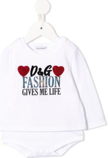 Dolce & Gabbana Kids Body Com Aplicação - Branco